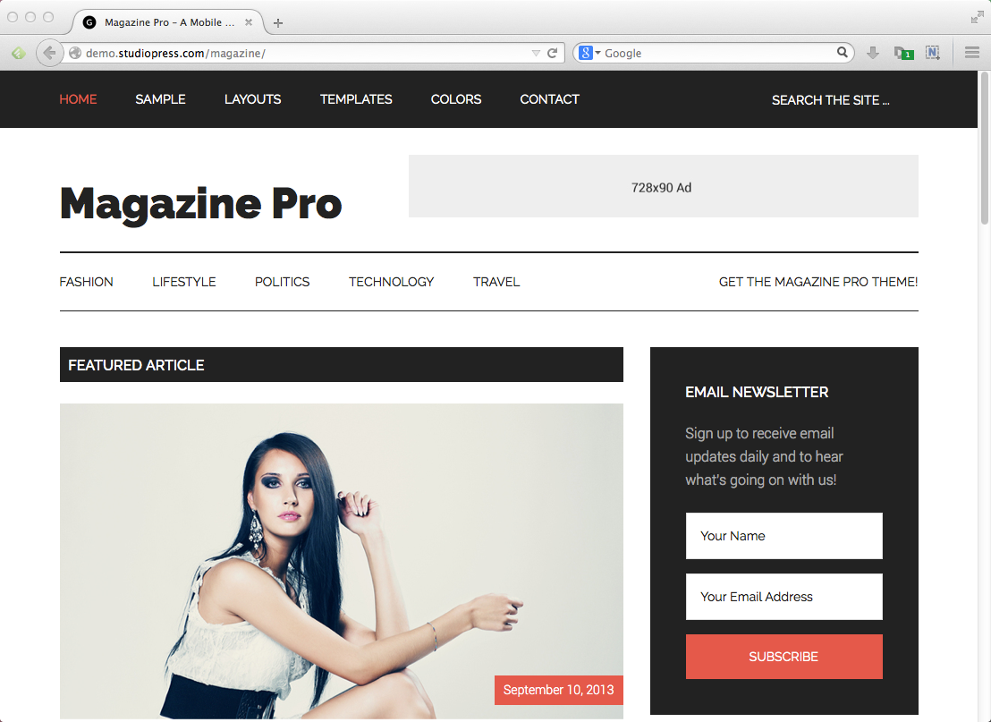 Best blog themes for WordPress: Genesis Magazine Pro