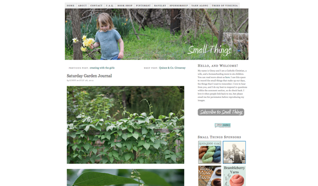 Jeni migrated Small Things from Blogger to WordPress