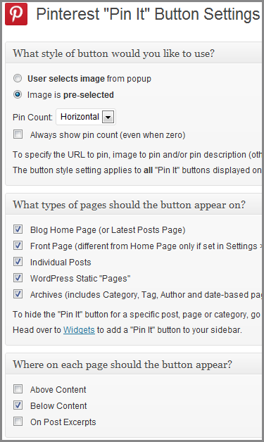 Pin It Plugin for WordPress