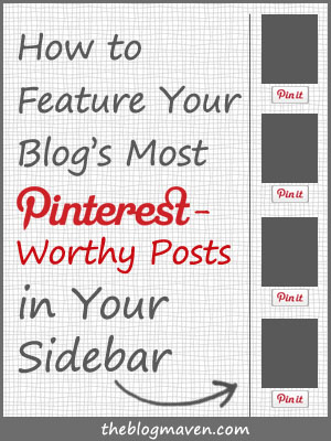 Feature Your Pinterest-Worthy Posts in Your Sidebar