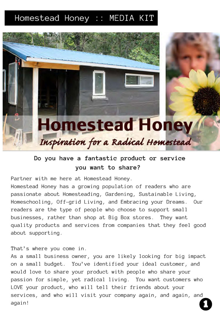 Media Kit Example Homestead Honey