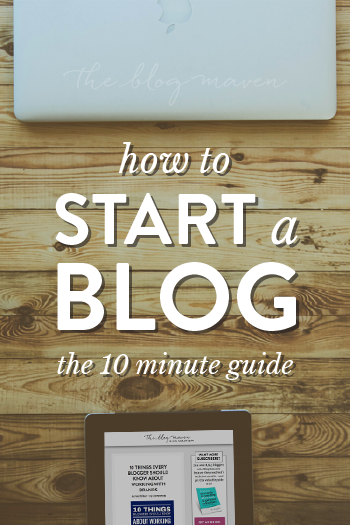 How to Start a Blog (the Easy Way!) in as little as 10 minutes. You can do this!