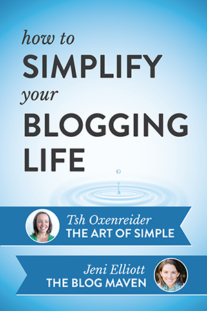 Do you ever feel like blogging is just too hard? In this podcast episode, Jeni interviews Tsh Oxenreider from The Art of Simple on how this seasoned blogger is scaling back and making her blogging life simpler. A must listen!