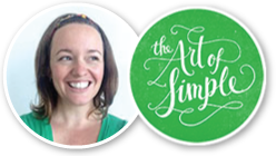Tsh from the Art of Simple blog speaks out about simplifying your blogging life