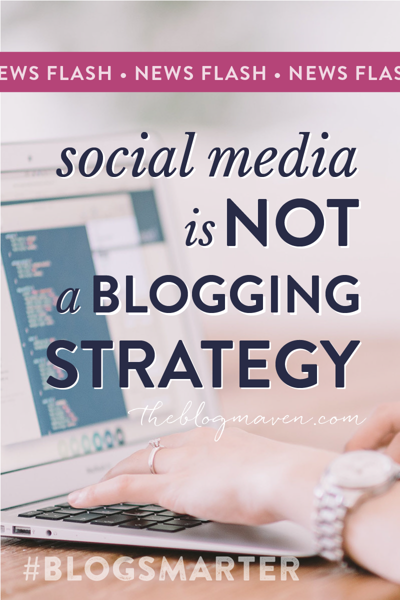 News Flash, BLOGGERS: Social media is NOT a strategy! Learn the difference between a strategy and tactic, and what is means for YOU (hint: you're probably working too hard...) http://www.theblogmaven.com/social-media/